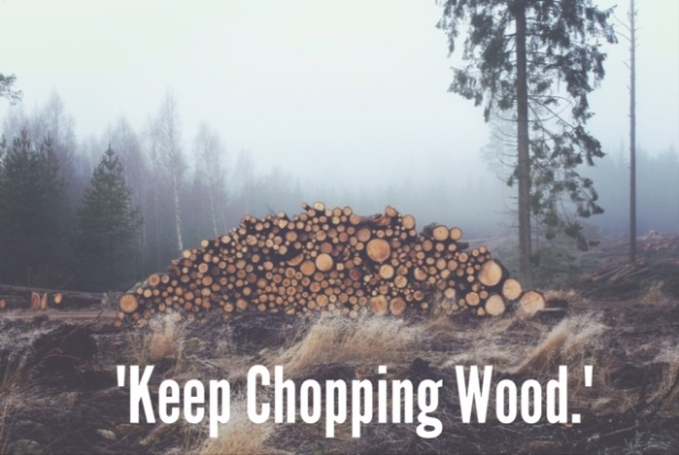 choping wood